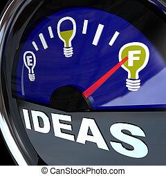 tele, siker, -, gondolat, megmér, újítás, fűtőanyag