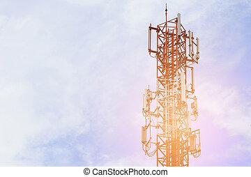 Telecom base station tower