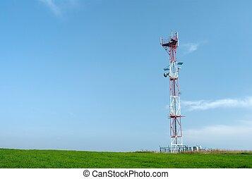 Telecom GSM tower - Telecom tower with a GSM reciever,...