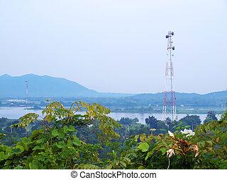Telecom microwave tower