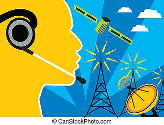 telecom, türme, satelliten