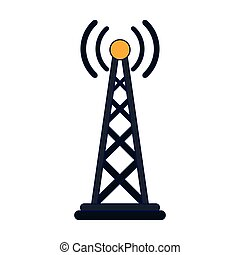 Telecommunication antenna symbol isolated vector illustration graphic design