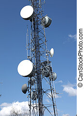 Telecommunication & cell phone towers are all over the hilltops providing access point to millions of customers.