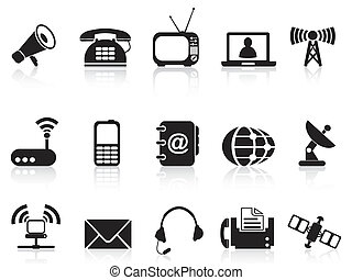 telecommunication icons - isolated telecommunication icons...
