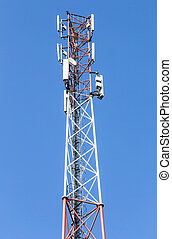 Telecommunication tower for mobile phone with antennas
