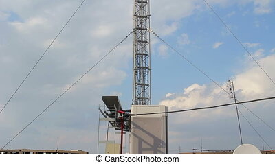 Telecommunication tower. Station mobile networks