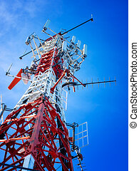Telecommunication tower - Telecommunications tower with a...