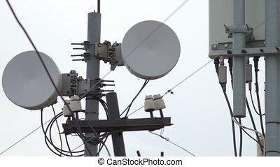 Telecommunication tower. Tower media Antenna Communications...
