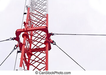 Telecommunication tower used to transmit television and 3g...