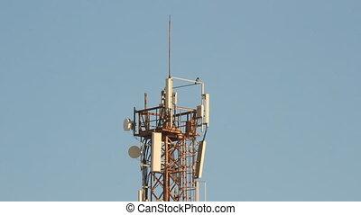 Telecommunication tower with antenn
