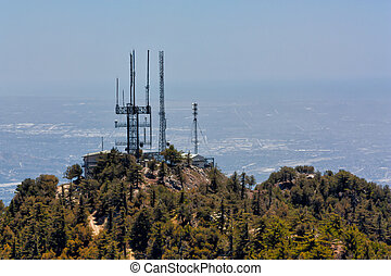 Telecommunication Towers at Mount Wilson Observatory