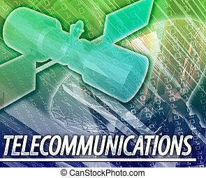 Telecommunications Abstract concept digital illustration