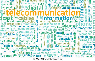 Telecommunications Net Global Industry as a Art