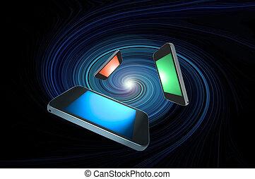 Telecommunications concept.