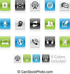 Telecommunications Icons - The vector file Includes 4 color...