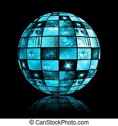 Telecommunications Industry Global Network as Art