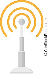 Telecommunications radio antenna tower or mobile phone base station with engineers concept .