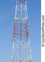 Telecommunications tower. Mobile ph