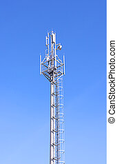 telecommunications tower with antenna