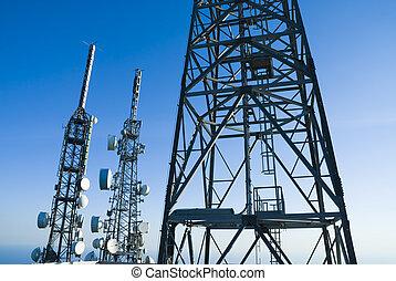 telecommunications pylons