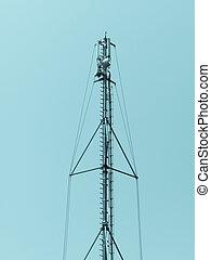 telecomunicación, aéreo, torre