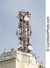 telecomunicación, antena