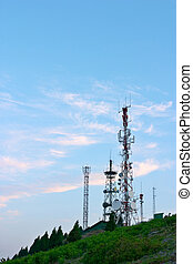 Telecomunications antennas tower
