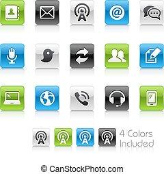 telecomunicazioni, icone