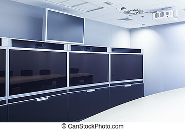 teleconferencing, video conference and telepresence screen displ