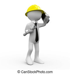 telefon, építészmérnök, beszéd