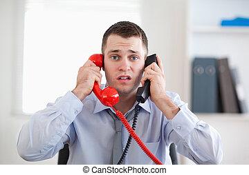 telefon, akcentowany