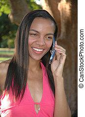 telefon, amerikaner, skønhed