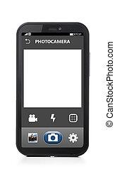 telefon, aparat fotograficzny