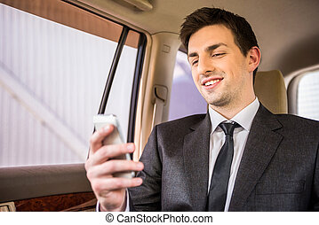 telefon, biznesmen