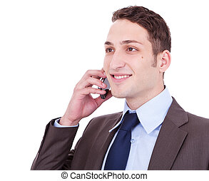 telefon, człowiek, handlowy