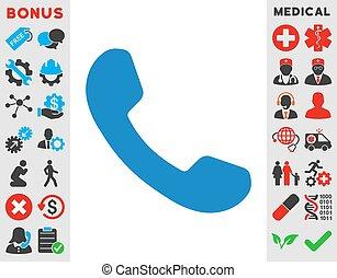 telefon- empfänger, ikone