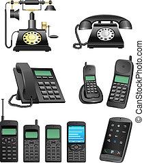 telefon, evolutionsphasen