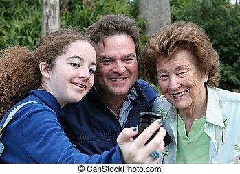 telefon, fényképezőgép, fényképész