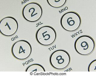 telefon, gombol