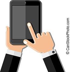 telefon, hände, halten mobile