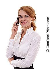 telefon, hívás, nő