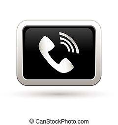 telefon, icon., illustration, vektor