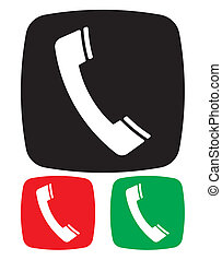 telefon, ikon