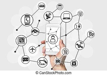 telefon, (iot), rzeczy, internet