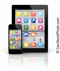 telefon, klug, tablette pc