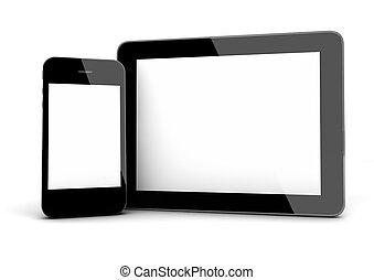 telefon, klug, tablette
