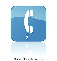 telefon, knap