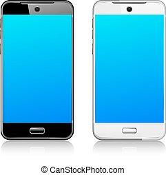telefon, komórka, mądry, ruchomy