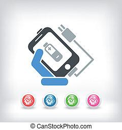 telefon, koszt, ikona