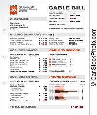 telefon lovforslag, kabel, tjeneste, dokument